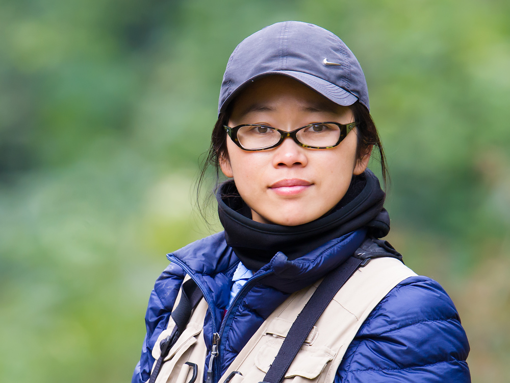 Elaine Du, Most Valuable Birder of the Nonggang 2015 Birding Expedition.