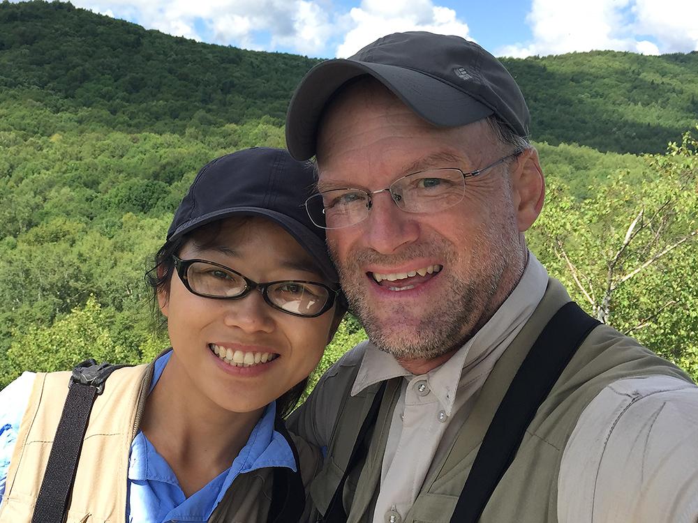 Elaine Du and Craig Brelsford, Xidaquan, 25 Aug. 2015.
