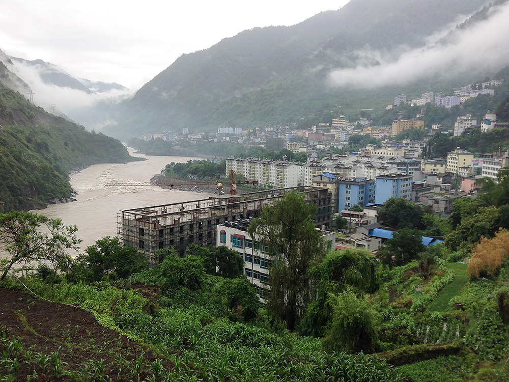 Gongshan, a city on the Salween River in Yunnan, China. 13 June 2014.