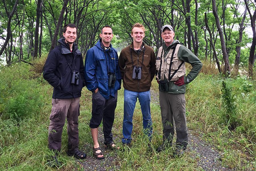 L-R: Ian Davies, Nick Bonomo, Luke Seitz, Craig Brelsford, Magic Forest, Yangkou, Rudong Jiangsu, China. 22 May 2016. Photo by Elaine Du.