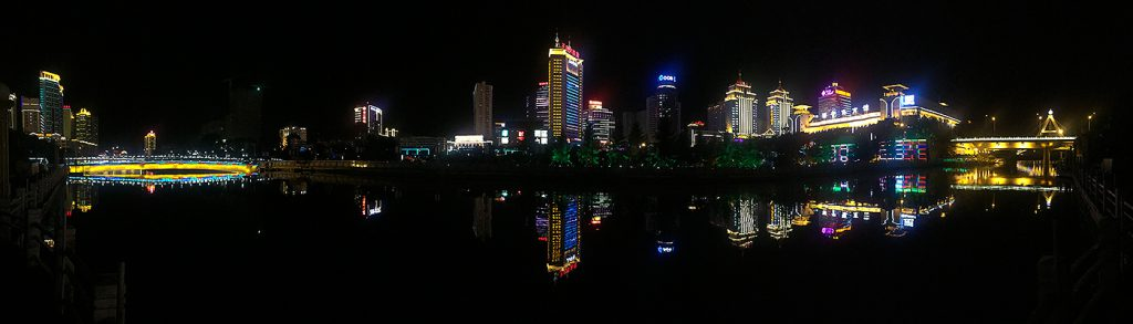 Skyline along Nanchuan River in Xining. After weeks birding at high elevation, Elaine and I spent 24-29 July relaxing in the capital of Qinghai.