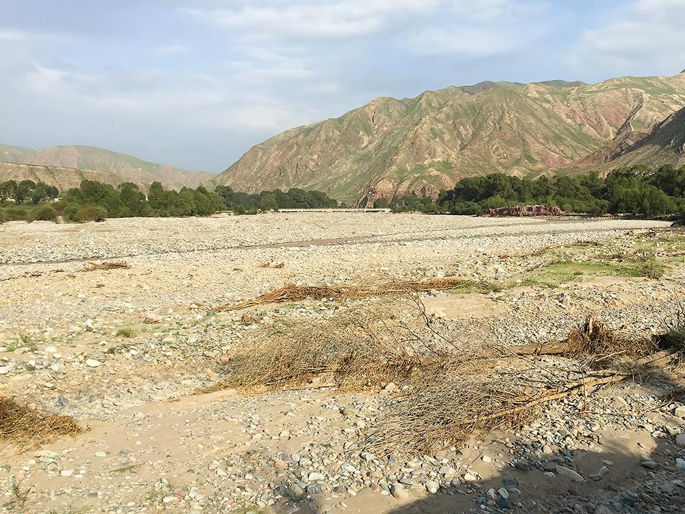 Heihe River Valley near village of Dipanzi.