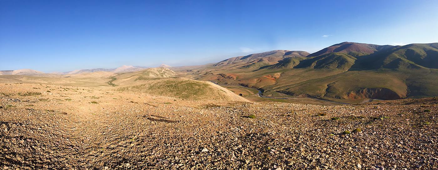 Panorama near Hala Lake. 9 Aug. 2016.