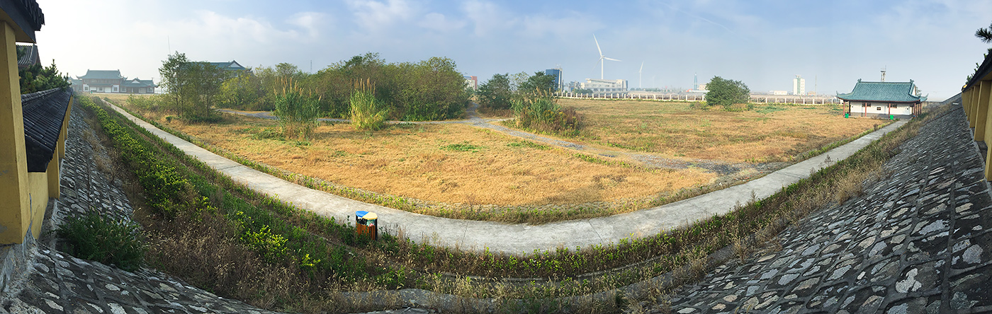 Panorama of Temple Forest, as it used to look.