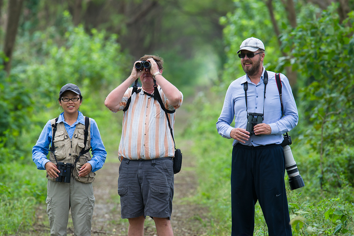 L-R: Elaine Du, Michael Grunwell, and Jan-Erik Nilsén, Magic Forest, Yangkou, Rudong, Jiangsu, 3 Oct. 2016.