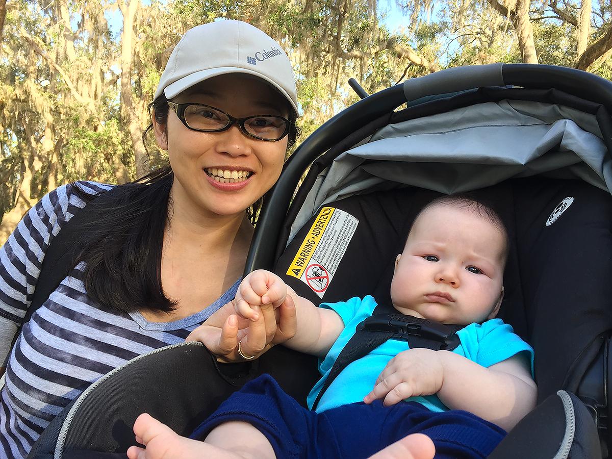 "Craig ""Tiny"" Brelsford (R) birding with his mother Elaine Du at Gemini Springs Park, Debary, Florida, 11 Feb. 2018. (Craig Brelsford)"