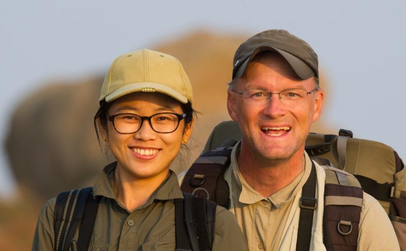 Craig Brelsford and Elaine Du, Lesser Yangshan Island, Zhejiang, China, 26 Oc. 2014.
