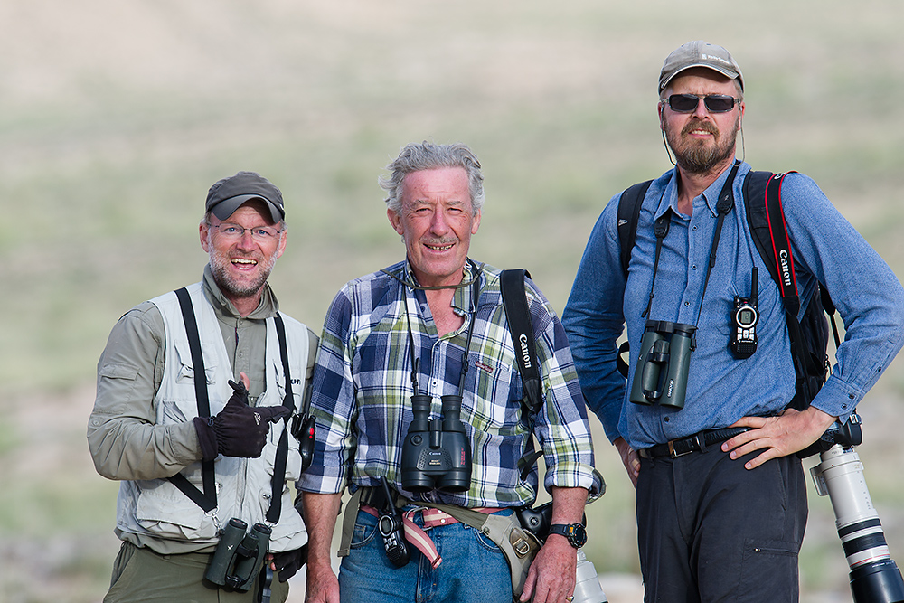 L-R: Craig Brelsford, Brian Ivon Jones, and Jan-Erik Nilsén, near Subei, Gansu, China, 25 July 2014.