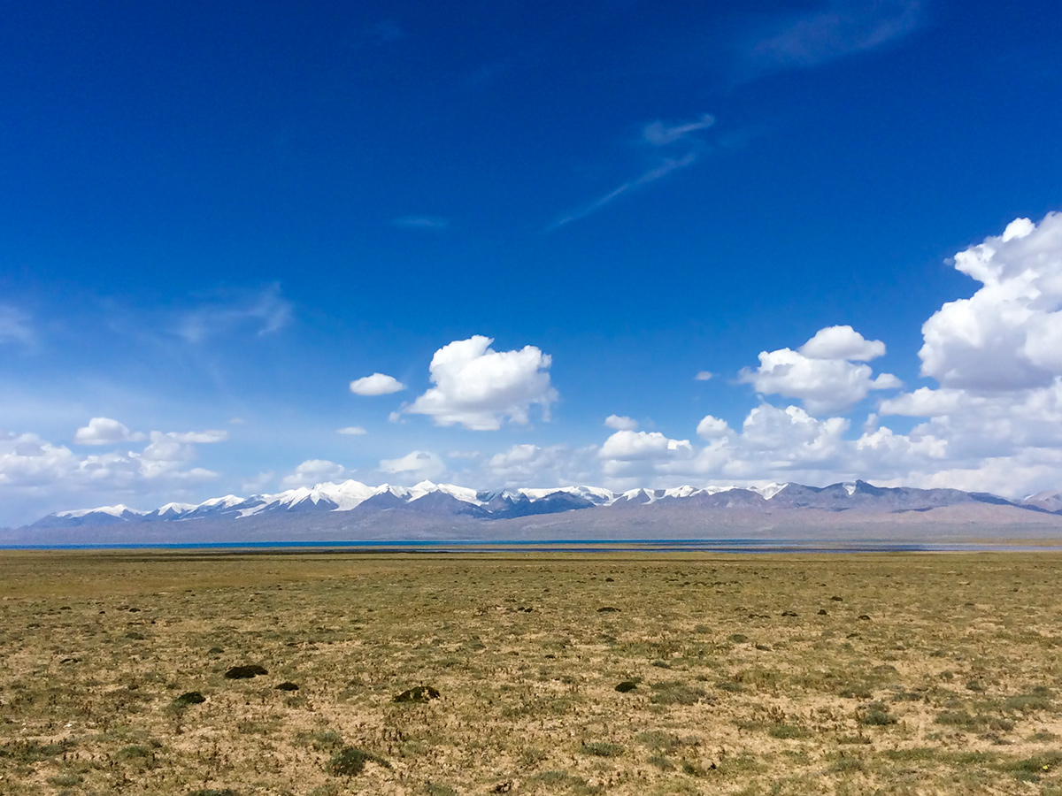Steppe, sea, and sky: Hala Lake, 9 Aug. 2016.