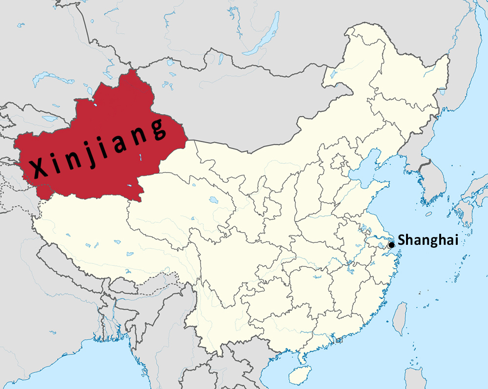 xinjiang and china
