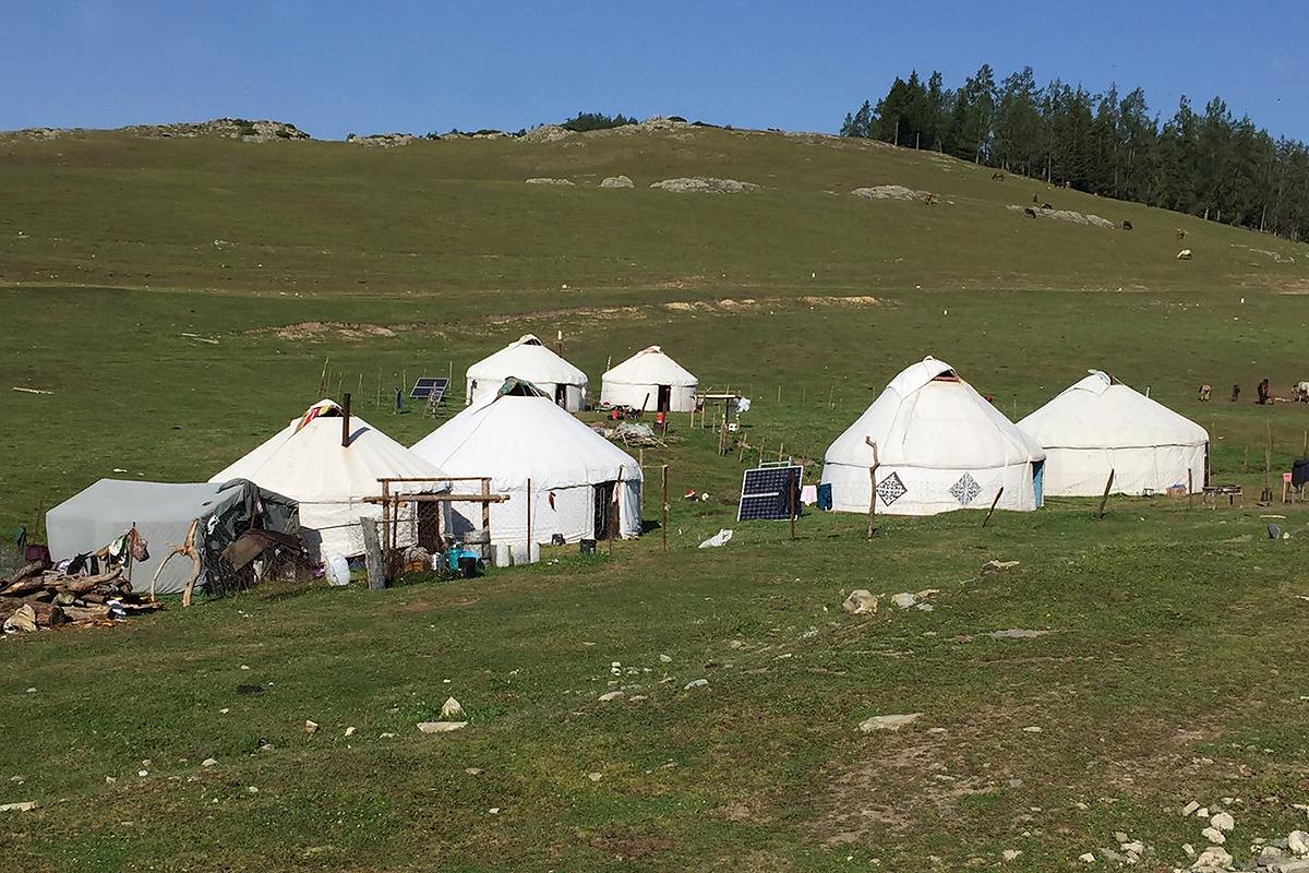Yurts near Kanasi Park, Xinjiang, July 2017. (Jan-Erik Nilsén)