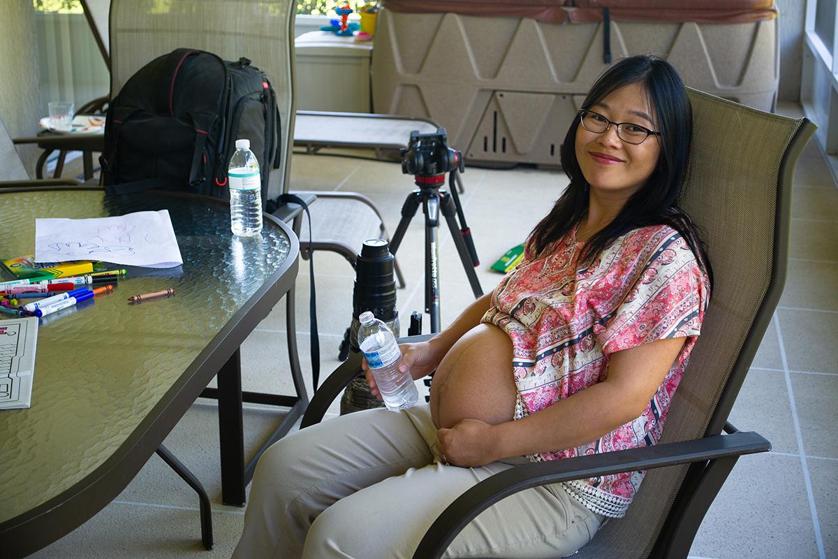 Pregnant Elaine